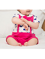 cheap -Baby Girls' Solid Colored / Color Block Short sleeves Romper