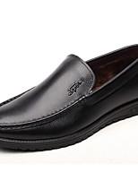 abordables -Homme Chaussures Cuir Automne Confort Mocassins et Chaussons+D6148 Noir