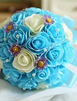 abordables -Fleurs artificielles 1 Une succursale Fleurs de mariage / Mariage Roses Fleur de Table