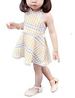 cheap -Toddler Girls' Polka Dot Sleeveless Dress