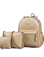 cheap -Women's Bags PU Leather Bag Set 3 Pcs Purse Set Pattern / Print for Outdoor Gold / Black / Blushing Pink
