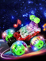 cheap -RC Car Light Music RC Stunt Cars 2CH 2.4G Stunt Car 1:32 KM/H