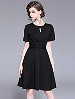 cheap -SHIHUATANG Women's Basic / Street chic A Line / Little Black Dress - Solid Colored Bow