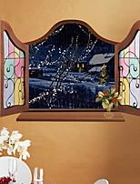 baratos -Autocolantes de Parede Decorativos - Autocolantes de Aviões para Parede Natal Sala de Estar / Quarto