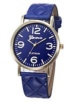 baratos -Mulheres Relógio Esportivo Chinês Novo Design / Cronógrafo / Adorável PU Banda Casual / Fashion Preta / Branco / Azul