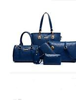 cheap -Women's Bags Other Leather Type Bag Set 5 Pieces Purse Set Zipper Blue / White / Black
