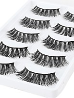 cheap -Eye 1 Natural / Curly Daily Makeup Full Strip Lashes / Thick Make Up Professional / Portable Professional Level / Portable Daily / Date