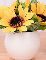 abordables -Fleurs artificielles 1 Une succursale style pastoral Tournesols Fleur de Table