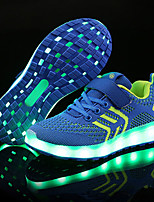 cheap -Girls' Boys' Shoes Knit Tulle Spring / Summer Light Up Shoes Comfort Sneakers LED for Wedding Athletic Black Blue Pink