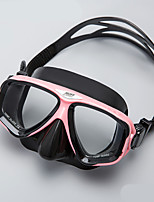 cheap -Swim Mask Goggle / Swimming Goggles Antifog, Wearproof, Adjustable Size Two-Window - Snorkeling, Diving Silicon Rubber, Tempered Glass -