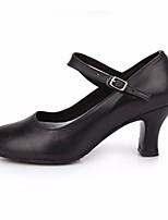 Недорогие -Жен. Обувь для модерна Полиуретан На каблуках Выступление / Тренировочные На шпильке Танцевальная обувь Черный / Красный