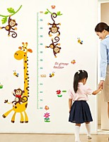 abordables -Calcomanías Decorativas de Pared Calcomanías Para Medir la Estatura - Calcomanías de Aviones para Pared Animales Sala de estar Dormitorio