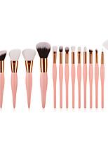 cheap -15pcs Makeup Brushes Professional Makeup Brush Set Nylon fiber Eco-friendly / Soft Wooden / Bamboo