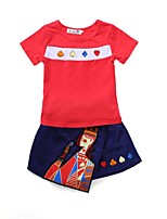 cheap -Kids Unisex Print Short Sleeves Clothing Set