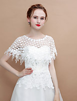cheap -Sleeveless Lace Wedding / Party / Evening Women's Wrap With Tassel / Ruffle Capelets