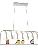 abordables -Artistique Chic & Moderne Lustre Lumière dirigée vers le bas - Mat, 110-120V 220-240V, Blanc Crème, Ampoule incluse