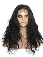 cheap -Remy Human Hair Lace Front Wig Wig Brazilian Hair / Body Wave Wavy 150% Density 100% Virgin Women's Long Human Hair Lace Wig