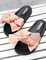 cheap -Women's Slippers Slide Slippers Ordinary / Geometric Pattern Nubuck leather Bowknot