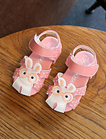 cheap -Girls' Shoes PU Summer Flower Girl Shoes Sandals for Outdoor Fuchsia Blue Pink