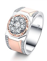 cheap -Men's Cubic Zirconia Cluster Band Ring / Engagement Ring - Rose Gold Vintage, Elegant 7 / 8 / 9 Rose Gold For Wedding / Engagement / Ceremony