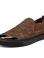 Недорогие -Муж. обувь Резина Весна / Лето Удобная обувь Мокасины и Свитер Черный / Темно-русый / Хаки