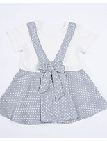 cheap -Kids Girls' Polka Dot / Color Block Short Sleeve Dress