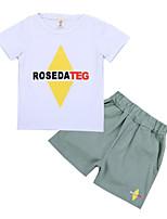 Недорогие -Дети Мальчики С принтом С короткими рукавами Набор одежды