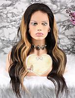 Недорогие -Remy Парик Бразильские волосы Волнистый Стрижка каскад 130% плотность С детскими волосами / 100% девственница Блондинка Короткие /
