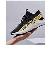 Недорогие -Муж. обувь Тюль Лето Удобная обувь Мокасины и Свитер Беговая обувь Светло-желтый / Черно-белый / Черный / Красный