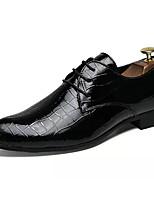 baratos -Homens sapatos Borracha Primavera Verão Conforto Oxfords para Ao ar livre Preto Vermelho