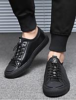 economico -Per uomo Scarpe Pelle Primavera / Autunno Comoda Sneakers Nero