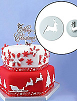 cheap -Bakeware tools Plastic Creative / Christmas / DIY For Cookie / For Chocolate / Cake Baking & Pastry Tools / Cookie Cutters 2pcs