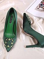 abordables -Femme Chaussures Soie Printemps été Confort / Escarpin Basique Chaussures à Talons Talon Aiguille Noir / Vert