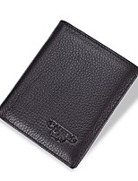cheap -Men's Bags Genuine Leather / Leather Wallet Embossed for Shopping Coffee