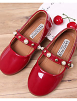 cheap -Girls' Shoes PU Spring Comfort Flats for Outdoor Black Red