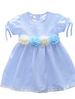 cheap -Kids Toddler Girls' Striped Short Sleeves Dress