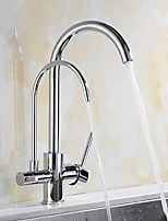 cheap -Kitchen faucet - Contemporary / Standing Style Chrome Standard Spout Vessel