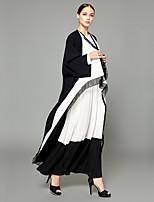 abordables -Abaya Femme - Créatif / Voiles & Transparence / Couleur Pleine Chic de Rue / Sophistiqué Mosaïque / Garniture en dentelle