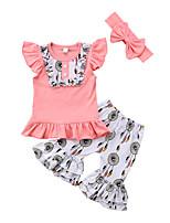 cheap -Toddler Girls' Print Patchwork Sleeveless Short Sleeves Clothing Set