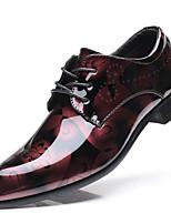 Недорогие -Муж. обувь Лакированная кожа Осень Удобная обувь Туфли на шнуровке Серый / Желтый / Вино