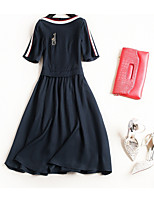 cheap -TS - Miss French Women's Basic / Street chic A Line / Swing Dress - Solid Colored / Color Block