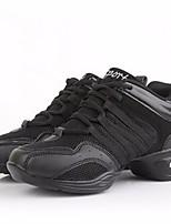 cheap -Women's Dance Sneakers Tulle Sneaker Low Heel Dance Shoes Black / Black / Gold / Black / Red / Performance / Practice