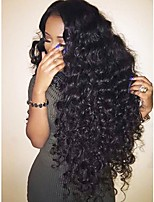 cheap -Virgin Human Hair Wig Brazilian Hair Curly Layered Haircut 180% Density With Baby Hair For Black Women Black Short Long Mid Length Women's