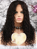 cheap -Remy Human Hair Wig Brazilian Hair Curly Layered Haircut 130% Density With Baby Hair / 100% Virgin Natural Short / Long / Mid Length