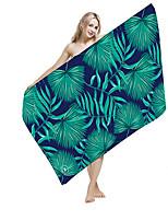 abordables -Qualité supérieure Drap de plage, Floral / Botanique / Impression réactive 100% Microfibre 1 pcs