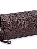 cheap -Men's Bags Poly urethane Clutch Zipper Black / Coffee