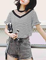 economico -t-shirt da donna - girocollo a righe