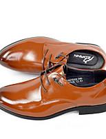 Недорогие -Муж. обувь Наппа Leather / Кожа Осень Удобная обувь Туфли на шнуровке Черный / Темно-русый