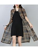 abordables -Mujer Blusa - A Cuadros Vestidos