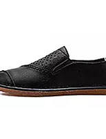 cheap -Men's Shoes Nappa Leather Spring Summer Comfort Loafers & Slip-Ons for Outdoor White Black Gray